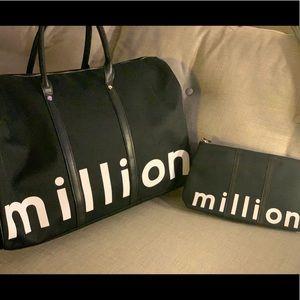 NWOT Million Weekender Bag and Toiletry Tote